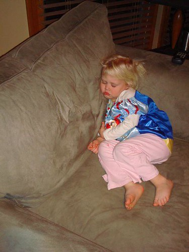 Snow White Crashed on the Couch