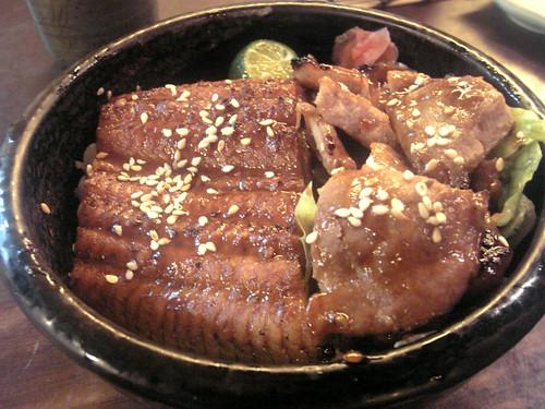 漁僮小舖-雙色丼(燒肉+鰻魚)