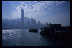 Star Ferry (Geoff A Roberts) Tags: street leica film water ferry skyline architecture clouds 35mm buildings landscape island photography star pier boat photo nikon asia fuji photographer harbour scanner geoff version streetphotography 4th slide super victoria highlights m sparkle hong kong summicron velvia pre wharf mp roberts 5000 fourth coolscan asph 235 streetphotographer leitz aspherical scenicsnotjustlandscapes geoffroberts