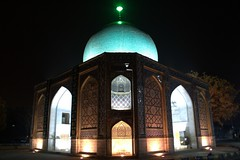 (Reza-ir) Tags: green monument night construction iran tomb mashhad khorasan      greentomb