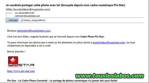 Exemple de mail envoyé