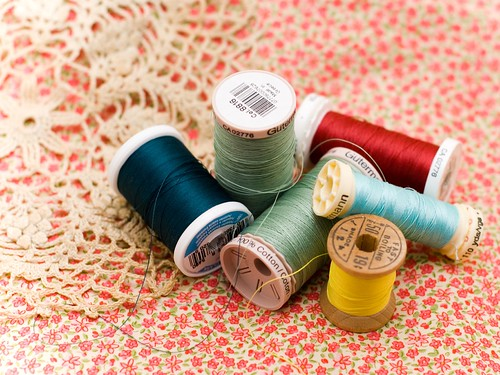 thread on fabric