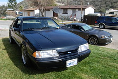 FORD MUSTANG 5.0 LX FOXBODY COUPE with BULLITT WHEELS (Navymailman) Tags: ford body system fox trunk brake mustang joes 50 coupe notch baer lx notchback stang foxbody foxbodymustang 2nkd631