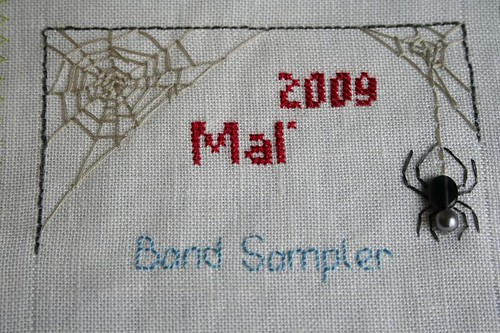Band sampler detail: header