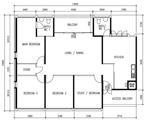 1 Bedroom Apartment Floor Plans