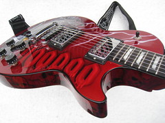 Gibson Les Paul Studio Custom-ized Voodoo Paint (RodsWorld) Tags: art studio skulls graphics guitar michigan lp biker grandrapids dalton lightning gibson lespaul voodoo myguitar madeinusa candyapple succubus custompaint guitarworld guitarart