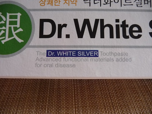 Dr. White Silver toothpaste