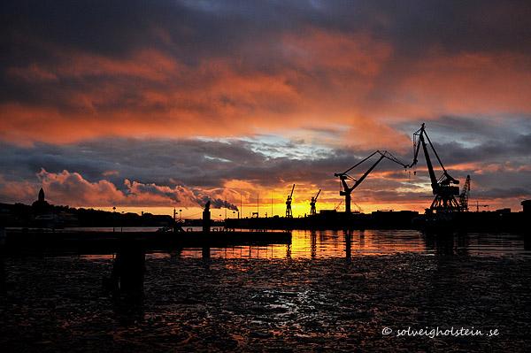 solnedgång hamnen 26.2