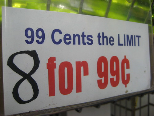 8 for 99 cents