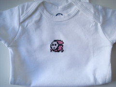 shyguy onesie (benjibot) Tags: clothing crossstitch crafts videogames nes onesie supermariobros2