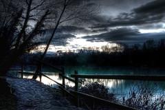 sentiero nell'alba (buttha) Tags: italy river dawn track italia path fiume sentiero hdr isonzo gorizia tamron1750 albra