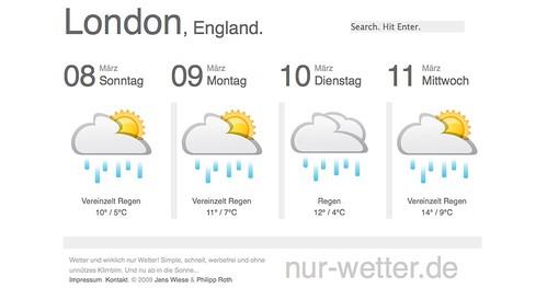 Nur-Wetter.de - London, England - Tagesaktuelles Wetter