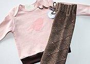 Organic Bird Top and Detailed Knit Shorties - medium