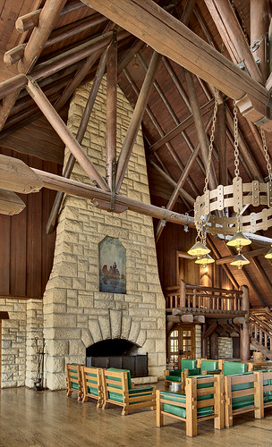 Pere Marquette State Park, in Grafton, Illinois, USA - lodge interior