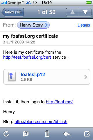 mail in iphone