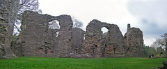 Grosmont Castle Wall (darkcell) Tags: wales grosmont