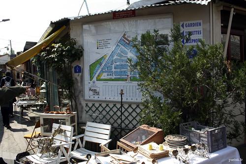 Le marché de Vernaison est tellement tortueux, héritage de son passé improvisé, quil faut un plan pour sy reperer!