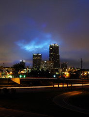 little rock in layers (windybug) Tags: street city urban rock skyline night photoshop sunrise buildings landscape downtown cityscape skyscrapers ar little littlerock chester layers arkansas hdr pulaskicounty winrich bestof2009 i630 littlerockset