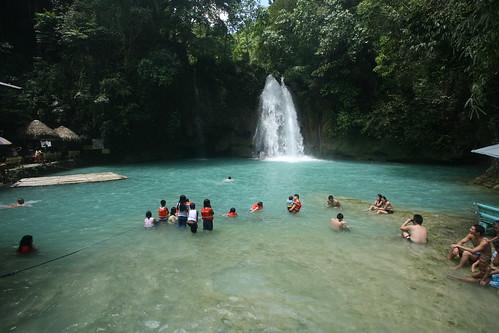 the first major falls of Kawasan