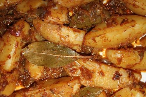 Safrankartoffeln mit Rosmarin