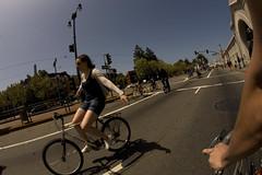 Look Ma! (jkoshi) Tags: me girl bike bicycle bridgestone fisheye embarcadero x01 nohands koshi jkoshi whilebiking whileriding xo1 sundaystreets