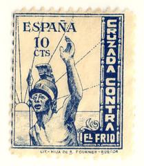 Cruzada contra el frío (Bellwizard) Tags: stamp viñeta sello estampita segell cinderellastamp stampcollectors cruzadacontraelfrío