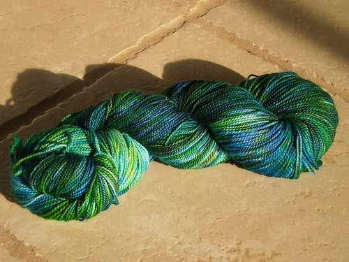 Sock Yarn from The Barefoot Spinner