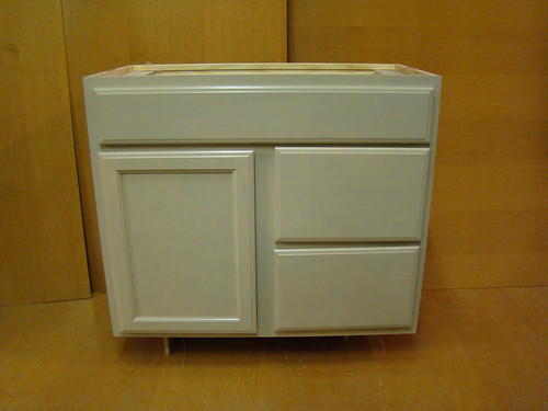 "Kraftmaid Maple Bathroom Vanity Sink Base Cabinet 36""w"