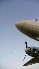 DC-3 and 747 plus moon