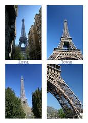 Eiffel Tower Four Photos