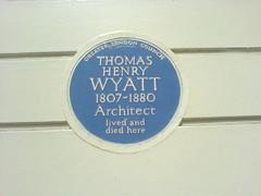 Photo of Thomas Henry Wyatt blue plaque
