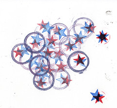 circles and stars (firebellydesign) Tags: stars pattern stamps circles