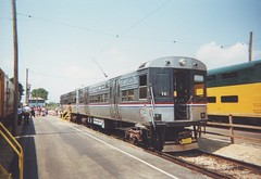Retired CTA 6000 series rapid transit cars. The Illinois Railway Museum. Union Illinois. August 2000.