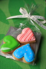 Heart biscuits (fruity23) Tags: pink blue white heart biscuit deandeluca cookey birthdaypresentgreen