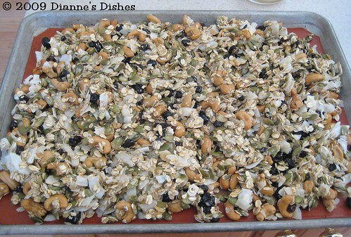 Blueberry Cashew Granola: Ready to Bake