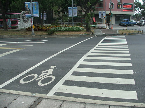 Pedestrian and bike crossing