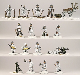 20mm Warmodelling Finnish Staff and Support Weapons