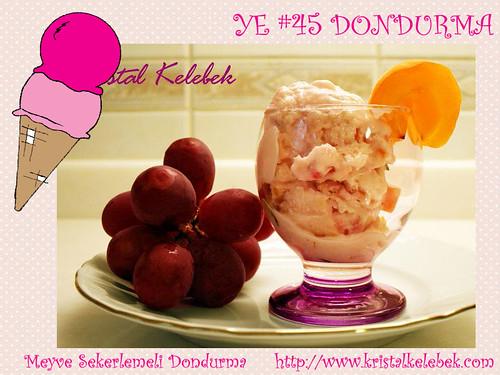 Meyve Sekerlemeli Dondurma - Kristal Kelebek