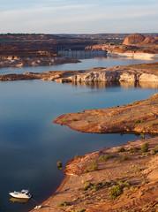 Solitude at Glen Canyon Dam (Rich Bitonti) Tags: arizona lake solitude dam canyon glen page powell