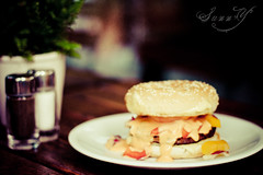 Happy Burger Wednesday (Pink Pixel Photography (f.k.a. Sunny)) Tags: canonef50mmf18 cheeseburger niftyfifty hbw soyummy canoneos400d ichbinungariamhungry
