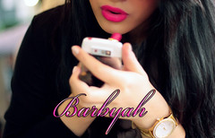 (       ) Tags: girl canon hair 50mm nokia hand phone watch lips fuschia lipstick f18 e71