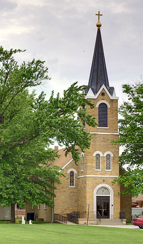 Saint Michael's Roman Catholic Church, in Paderborn, Illinois, USA - exterior