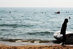 Probability (luce_eee) Tags: sea people beach girl boat sand mare estate acqua spiaggia controluce sabaudia probability canon400d disabbiaemare