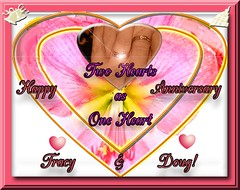 HAPPY ANNIVERSARY TRACY AND DOUG (fantartsy JJ *2013 year of LOVE!*) Tags: friends blessings happybirthday hugs thesuperbmasterpiece lovecelebrations anniversarygreetingcard
