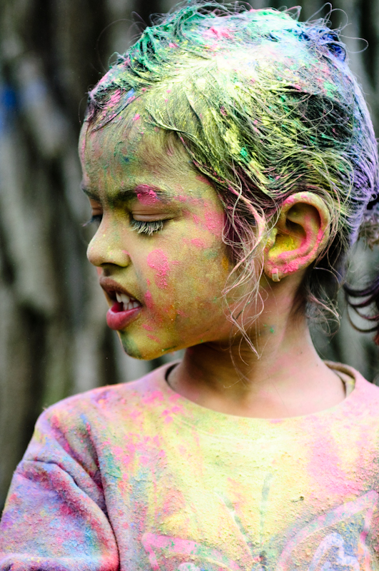 Faces at Holi