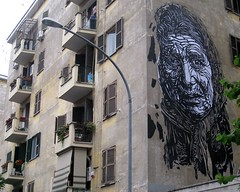 C215 - Roma (Garbatella) (C215) Tags: streetart roma art lady poster french graffiti stencil christian via affiche pochoir garbatella masacara szablon persico rumanian c215 schablon gumy piantillas viapersico75