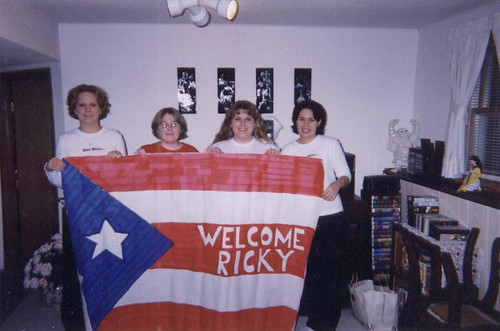On our way to a Ricky Martin concert, December 1999.