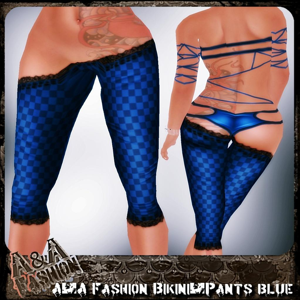 A&A Fashion bikini and pants blue