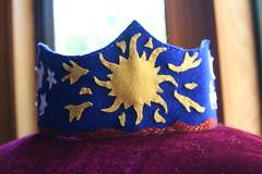 Lucas's Birthday Crown (SarabellaE / Sara / Love in the Suburbs) Tags: birthday stars handmade earth sewing 8 felt lucas sunburst birthdaycrown may2010