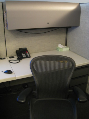 Aeron chair at my new cubicle